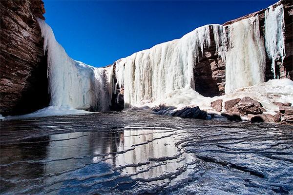 Cascada congelada